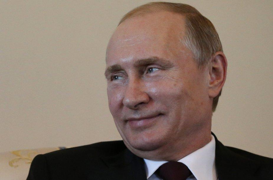 Rusijos prezidentas Vladimiras Putinas susitikime su Kirgizijos prezidentu Almazbeku Atambajevu