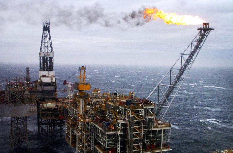 Naftos gavyba Šiaurės jūroje