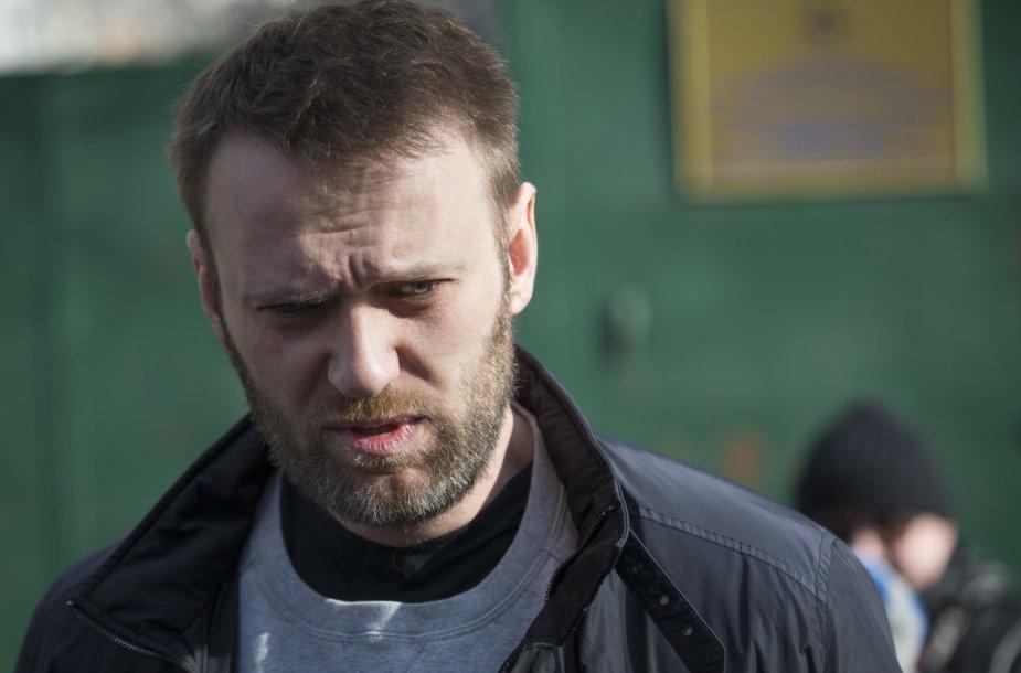 Rusijos opozicijos atstovas Aleksejus Navalnas.