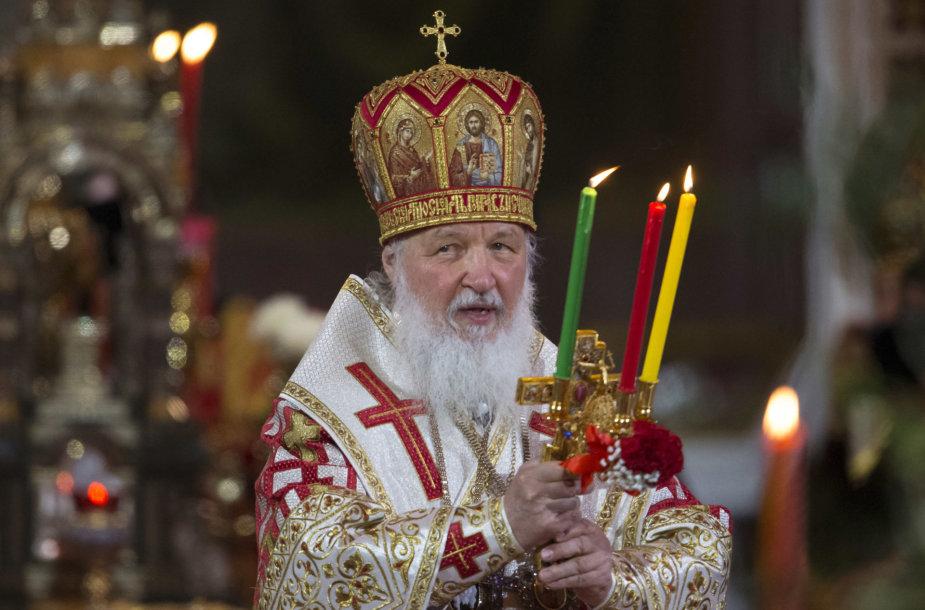 Rusijos stačiatikių bažnyčios vadovas, patriarchas Kirilas
