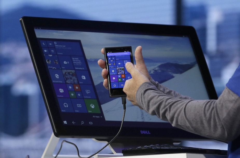 Pristatoma operacinė sistema Windows 10