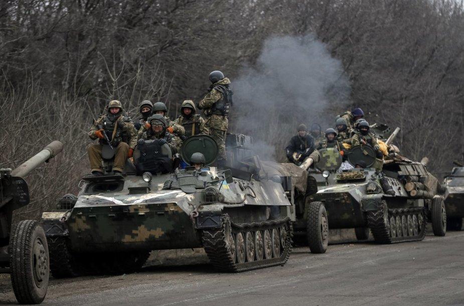 Ukrainos kariai netoli Artemivsko