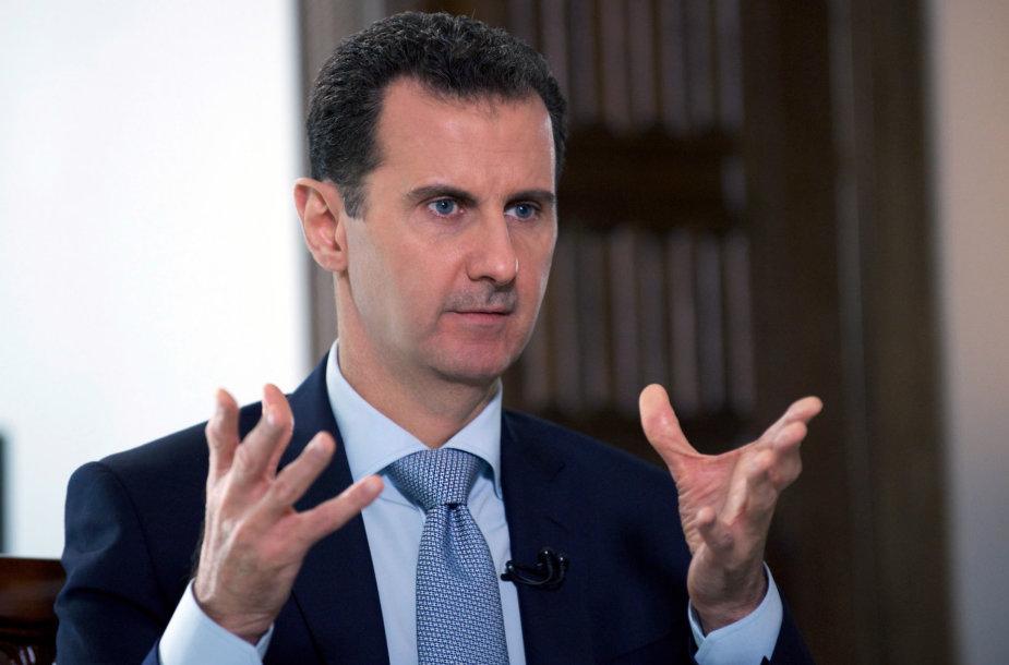 Sirijos prezidentas Bashas al Assadas.