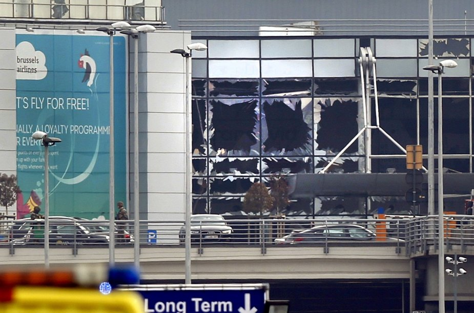 Sprogimas Briuselio oro uoste