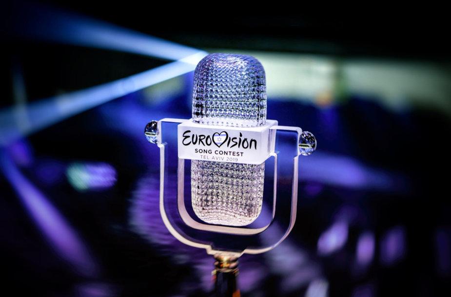 """""""Eurovizijos"""" dainų konkurso trofėjus"""