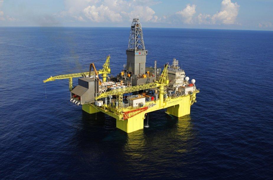 Naftos gavybos platforma Pietų Kinijos jūroje