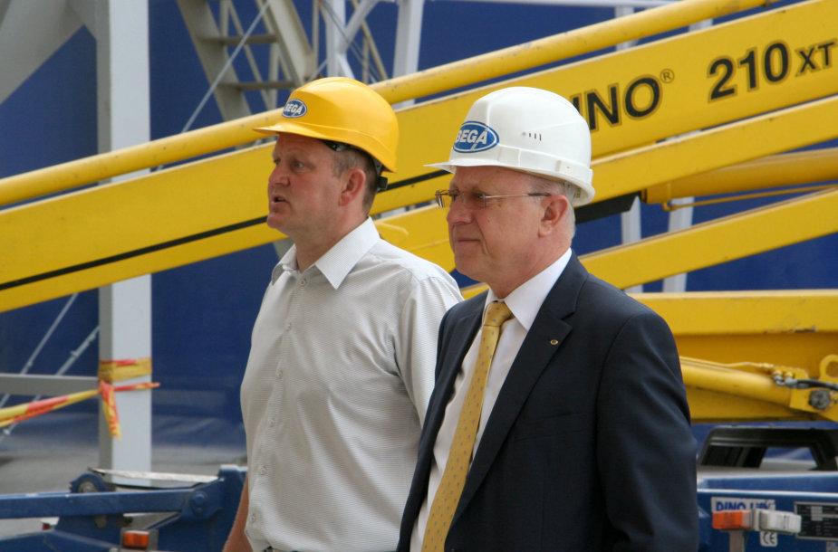 Laimonas Rimkus (kairėje) ir Aloyzas Kuzmarskis