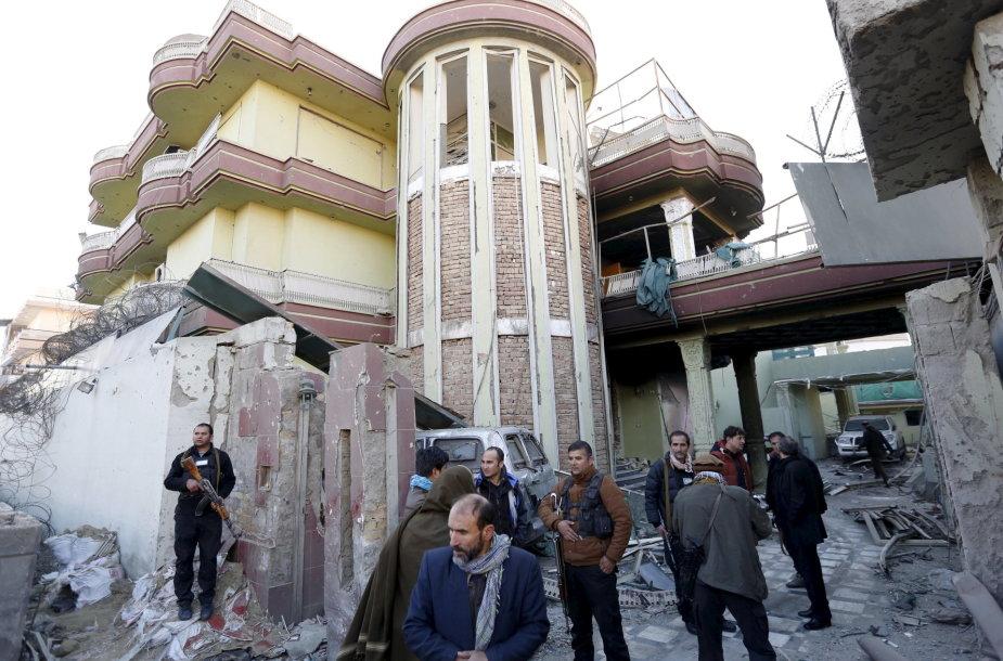 Per talibų išpuolį Kabule sužeistas ispanų policininkas.