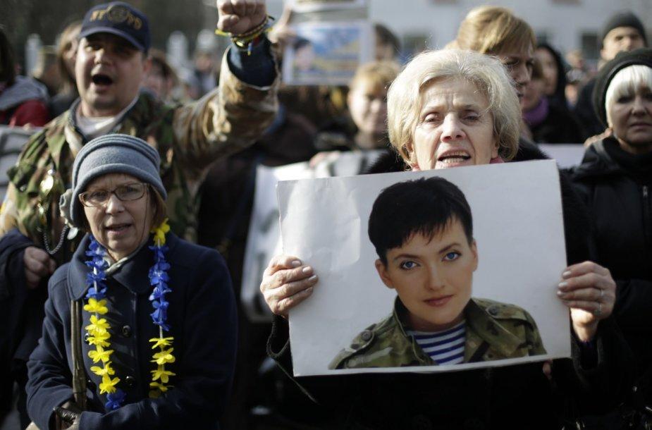 Protestas prieš Nadijos Savčenko kalinimą