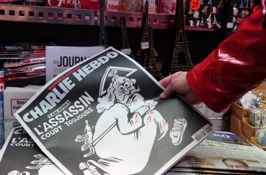"""""""Charlie Hebdo"""" žurnalo viršelis, besišaipantis iš Dievo"""
