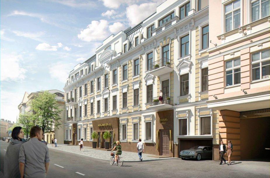 "Projektas ""Jogailos Rezidencija"" Vilniaus centre"