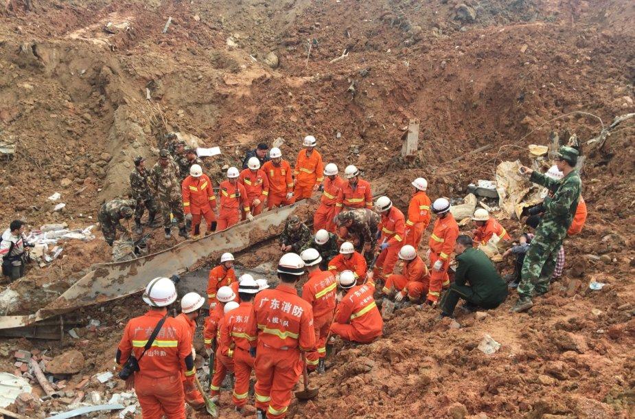 Žemės nuošliauža Kinijoje