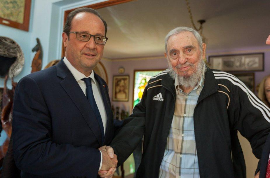 F.Hollande'as ir F.Castro.