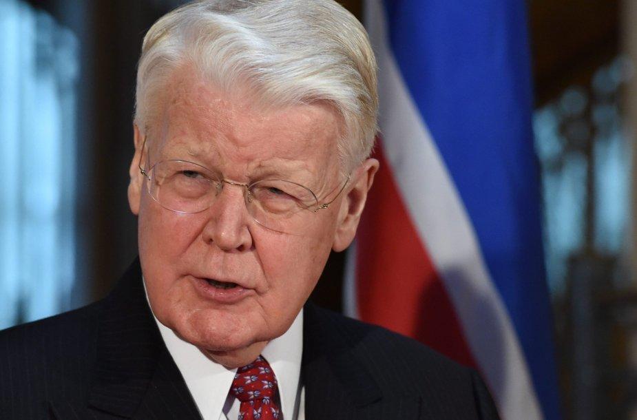 Islandijos prezidentas Olafuras Ragnaras Grimssonas.