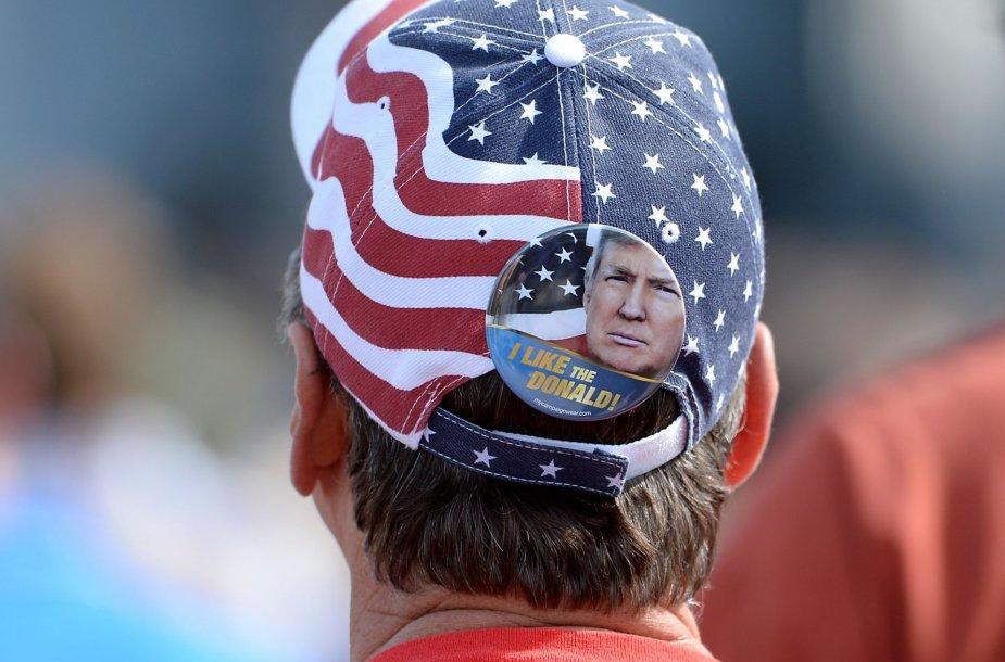 Donaldo Trumpo kandidatūrą palaikantys amerikiečiai