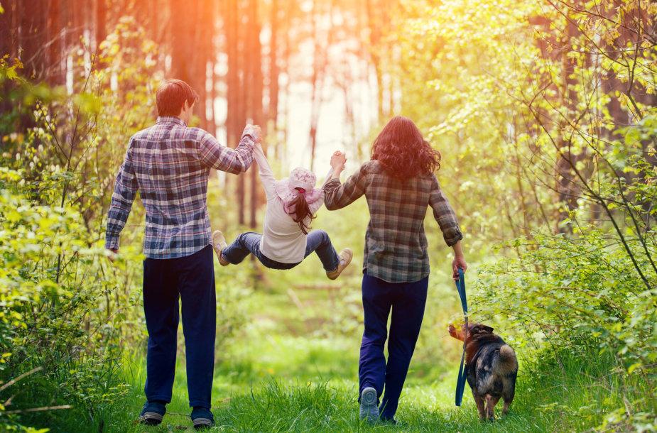 Asociatyvinė nuotrauka: šeima