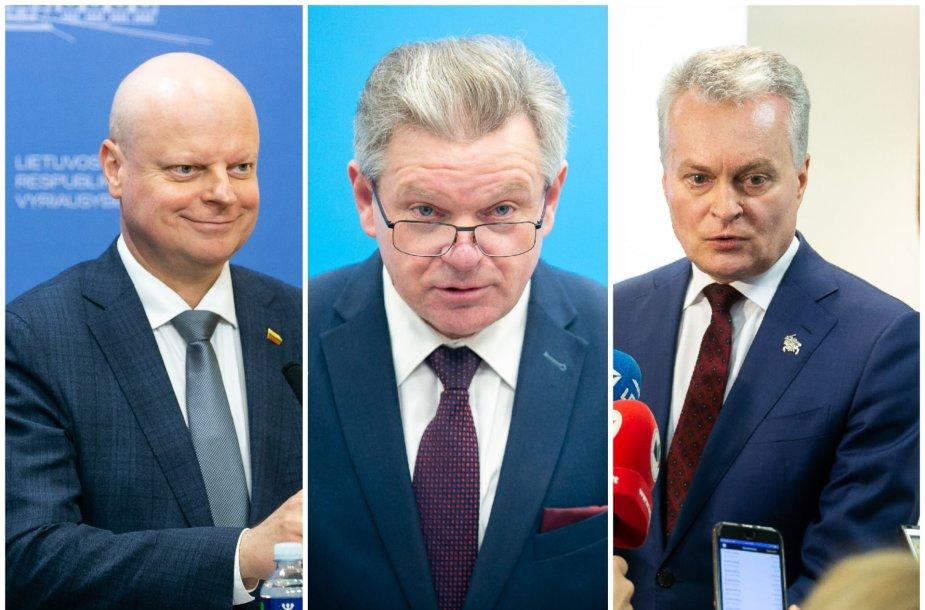 Saulius Skvernelis, Jaroslavas Narkevičius ir Gitanas Nausėda