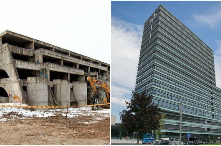 """Vietoje nebaigto statyti viešbučio """"Sputnik"""" išdygo verslo centras """"Quadrum"""""""