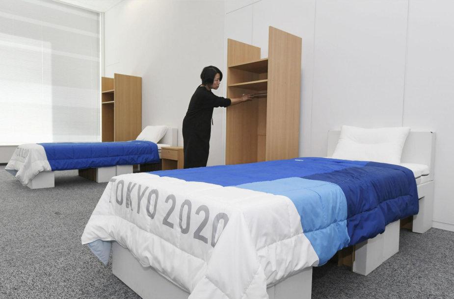 Tokijuje pristatytos olimpinio kaimelio lovos.