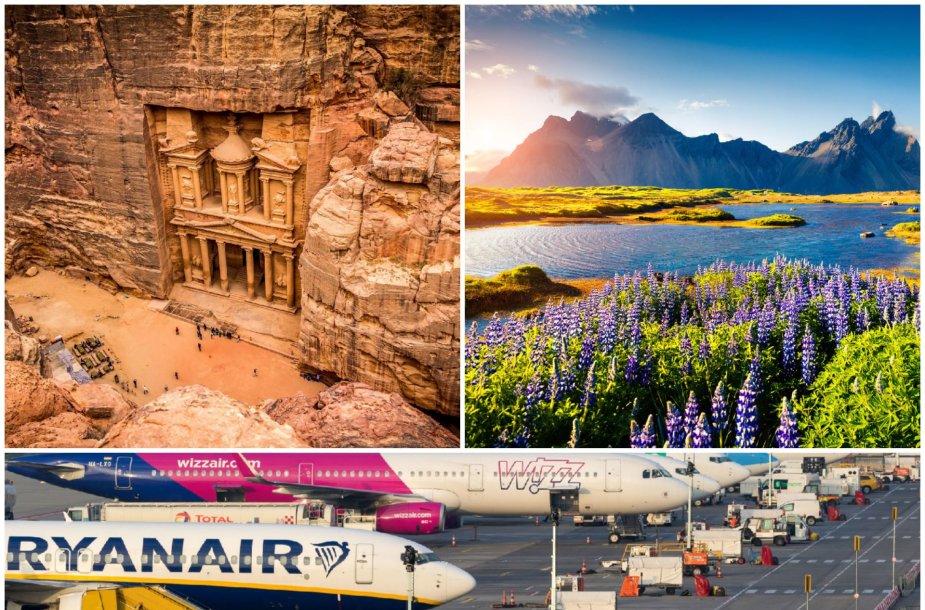 Žemų sąnaudų oro linijos iš Vilniaus nebeskraidys į Jordaniją ir Islandiją