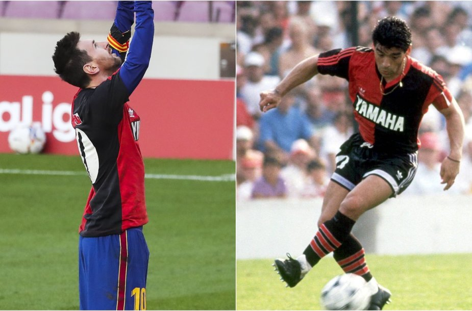 Lionelis Messi ir Diego Maradona