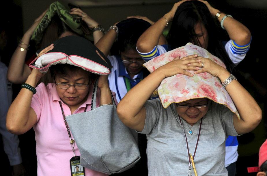 Filipinus purtė žemės drebėjimas