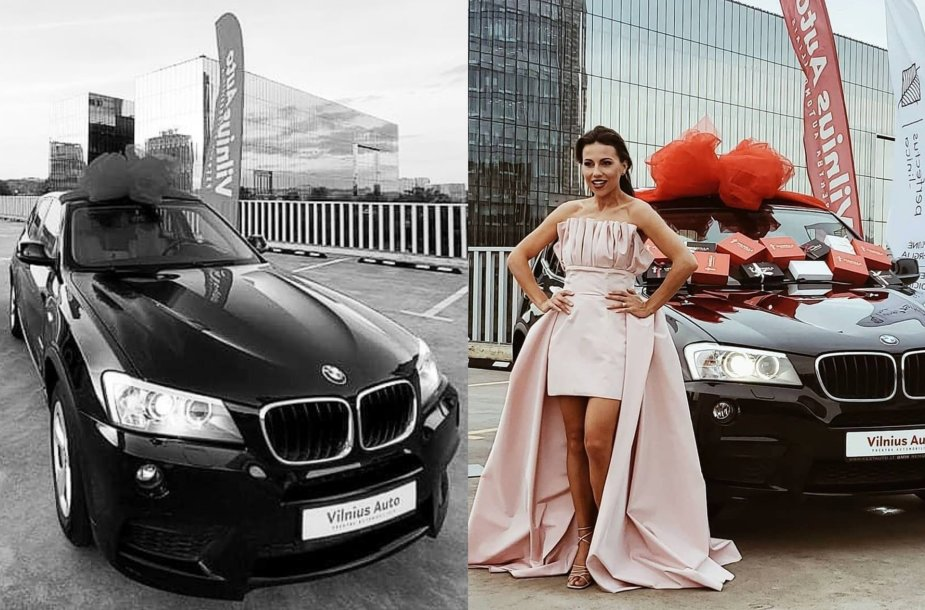 Julija Žižė ir BMW X3 automobilis
