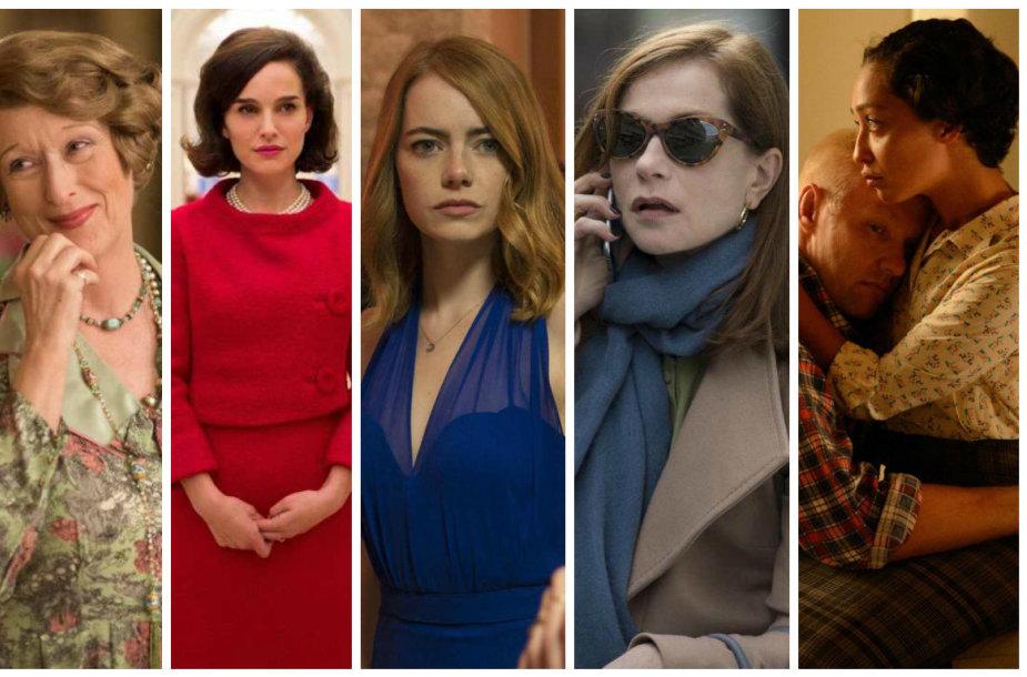 Meryl Streep, Natalie Portman, Emma Stone, Isabelle Huppert ir Ruth Negga