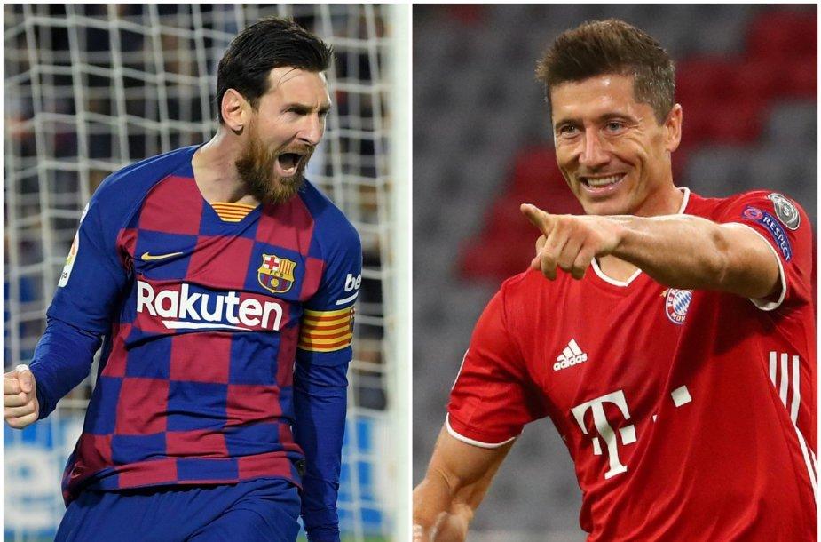 Lionelis Messi ir Robertas Lewandowskis