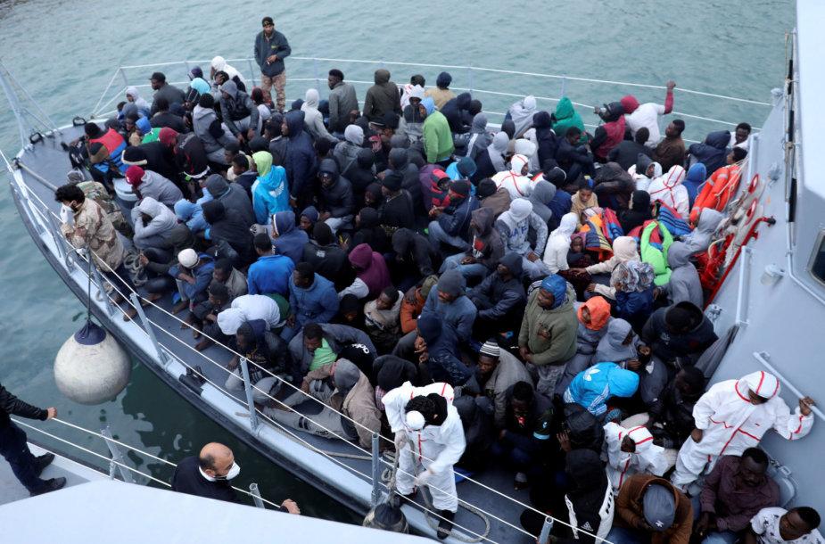 Išgelbėti migrantai Libijoje