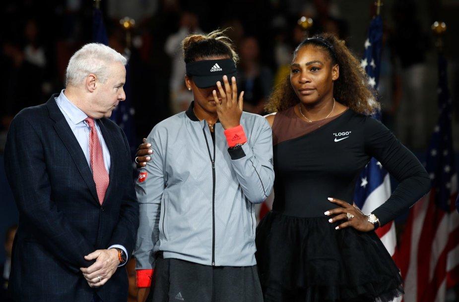 Naomi Osaka ir Serena Williams