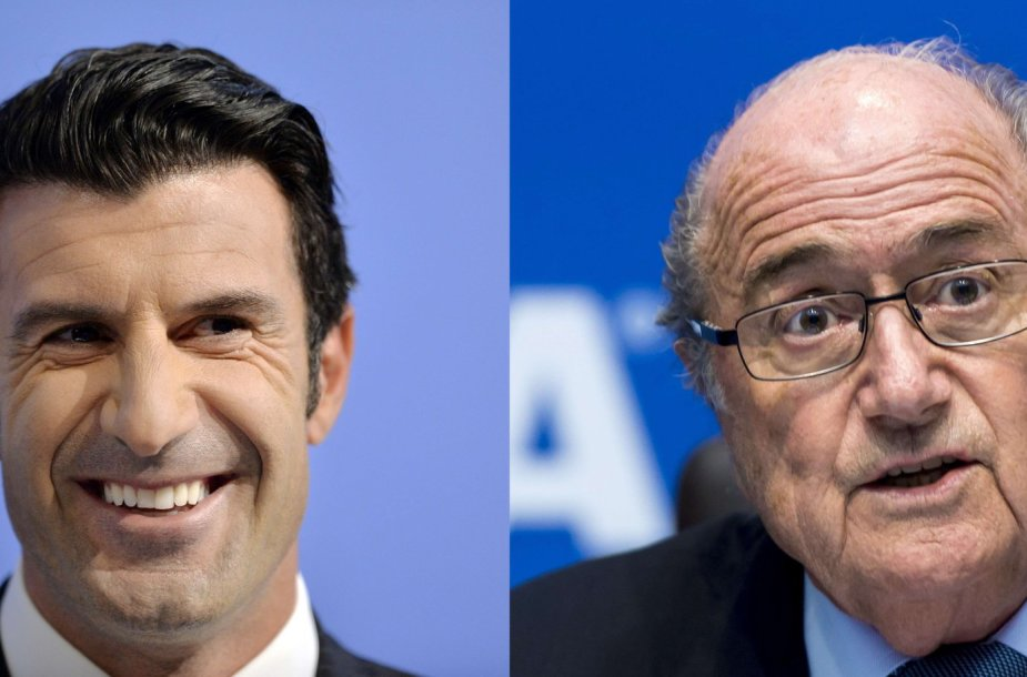 Luisas Figo ir Seppas Blatteris
