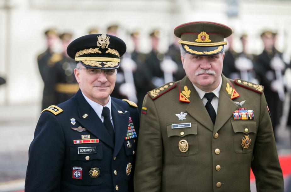 Curtis M.Scaparrotti ir Vytautas Jonas Žukas