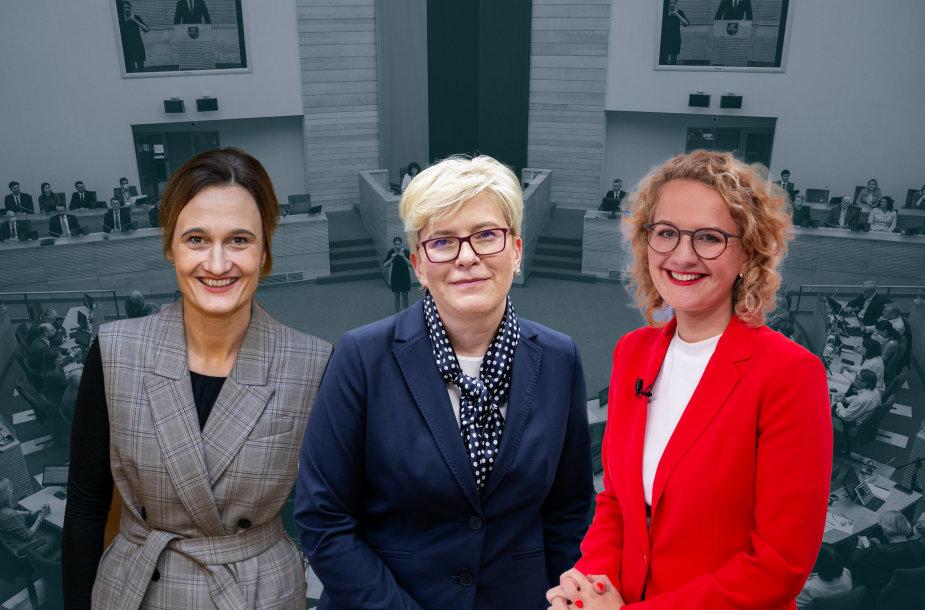 Viktorija Čmilytė-Nielsen,  Ingrida Šimonytė ir Aušrinė Armonaitė