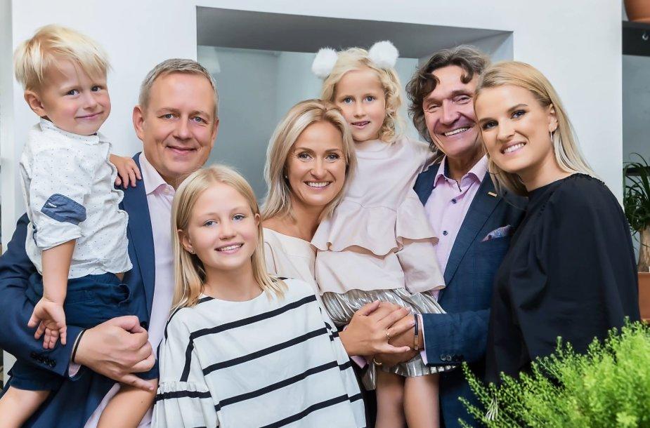 Gabija Vitkevičiūtė su šeima