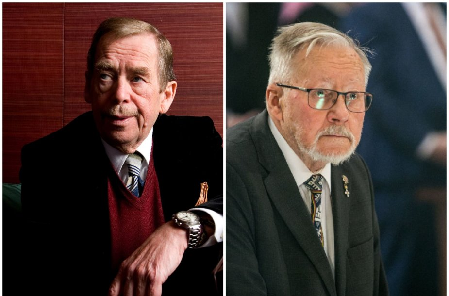 Vaclavas Havelas ir Vytautas Landsbergis