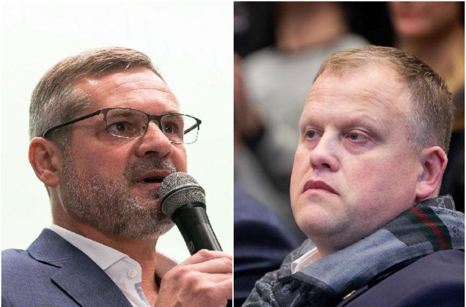 Paulius Malžinskas ir Žydrūnas Buzas