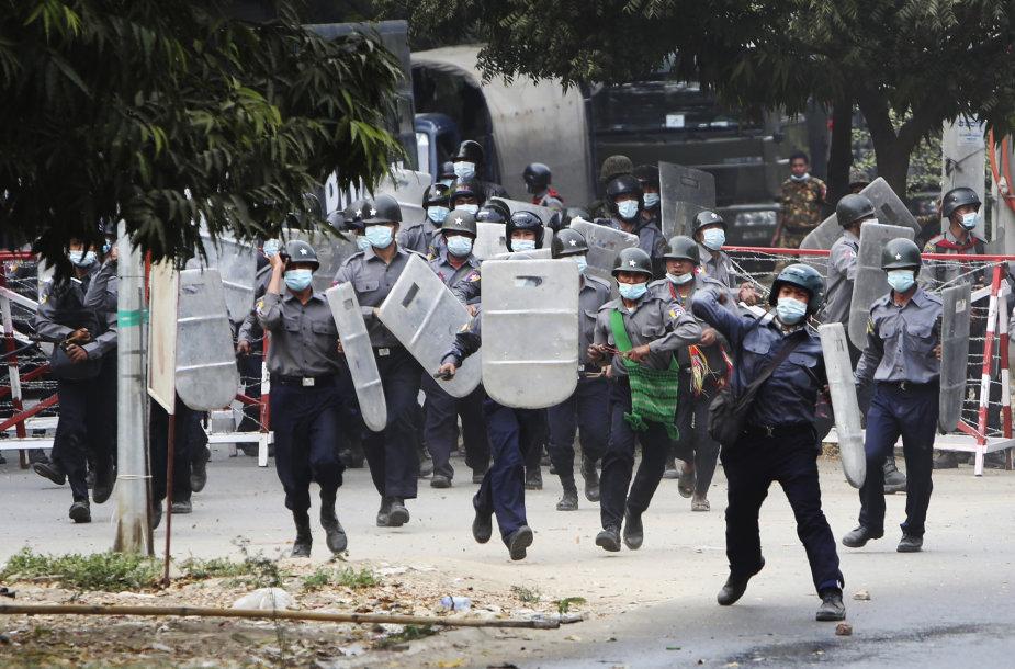 Mianmaro policija