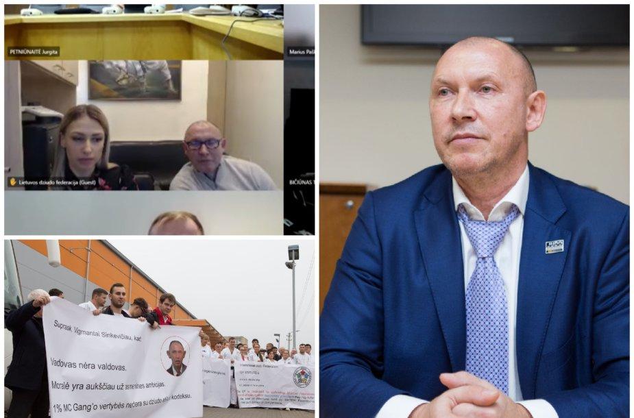 Seimo nariams dziudo situaciją aiškinęs Vigmantas Sinkevičius netikėtai paliko posėdį