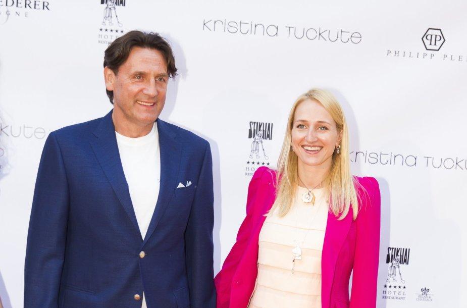 Valdemaras Chomičius su žmona Agne