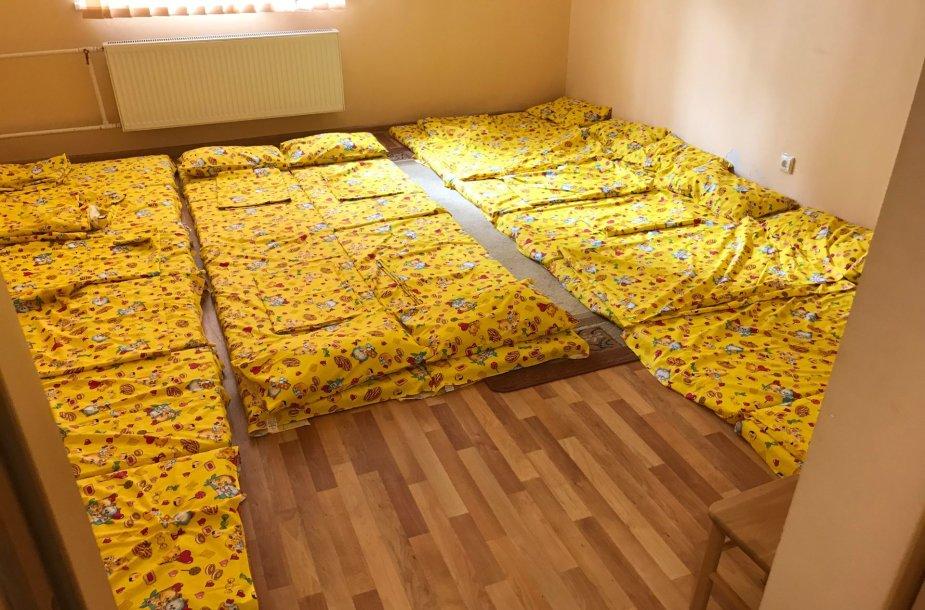 Laikinas Švenčionėlių darželio vaikų miegamasis