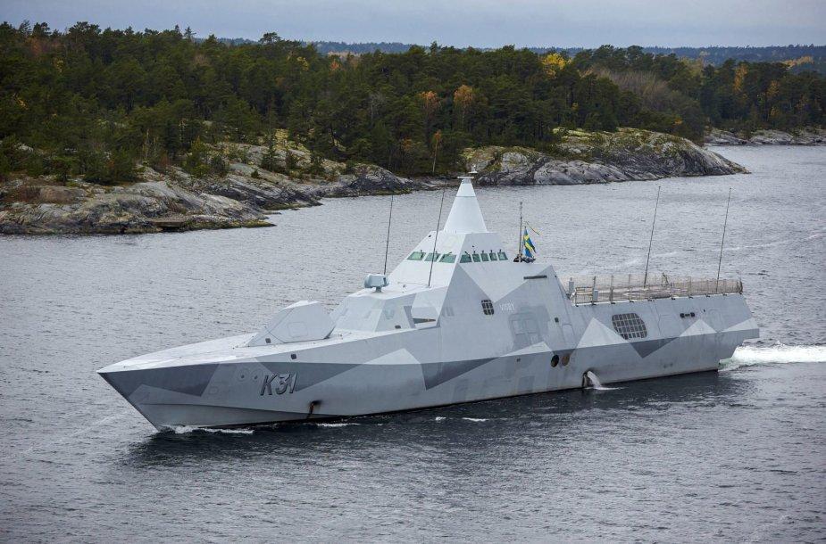 """Švedijos karininė korvetė """"HMS Visby"""""""