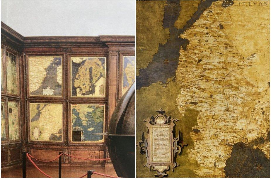 Įspūdinguose Italijos rūmuose – unikalus Lietuvos žemėlapis