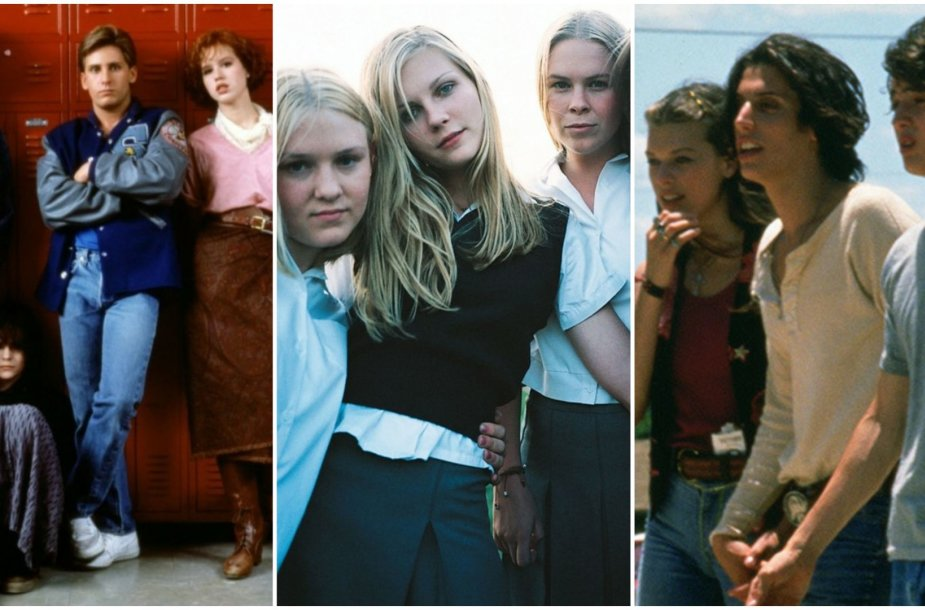 "Kadrai iš filmų ""The Breakfast Club"",  ""Virgin Suicides"" ir ""Dazed and Confused"""