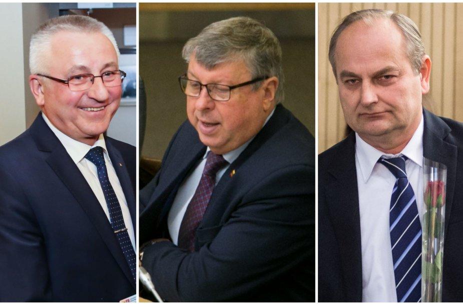 Jonas Varkalys, Jonas Liesis ir Juozas Baublys