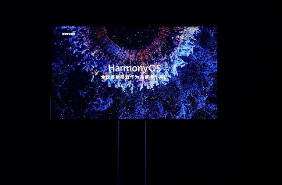 """Pirmasis išmanusis ekranas su """"HarmonyOS"""" operacine sistema"""