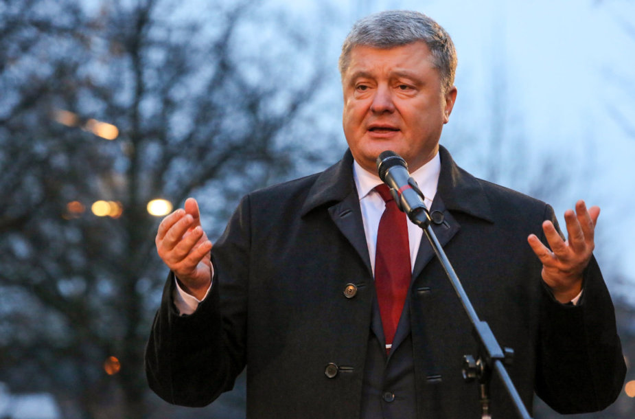 P.Parošenka Vilniuje iškilmingai atidarė Ukrainos vardo skverą