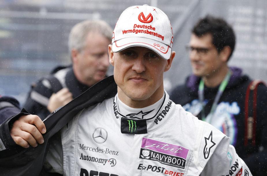 "Legendinis ""Formulės 1"" lenktynininkas Michaelis Schumacheris"
