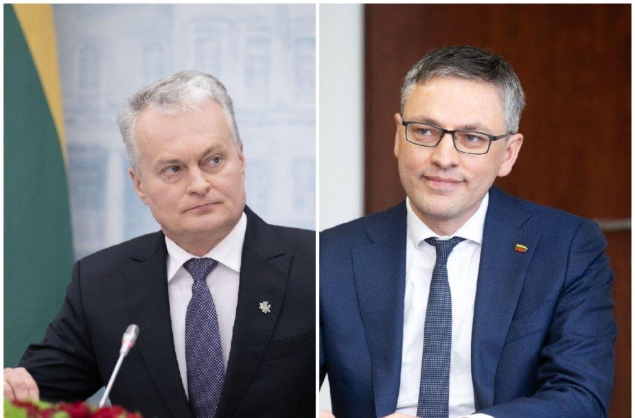Gitanas Nausėda ir Vytautas Bakas