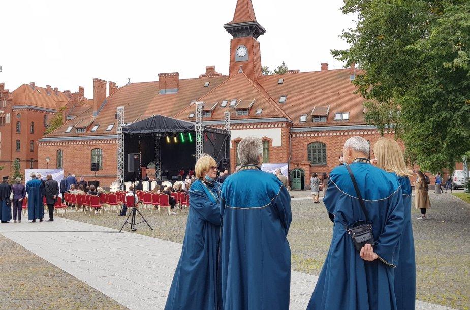 Mokslo metų pradžios šventė Klaipėdos universitete.